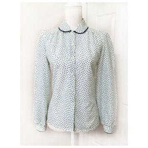 VINTAGE Peter pan collar blouse